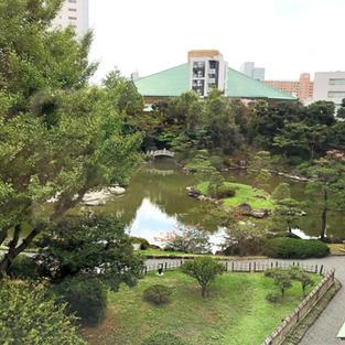 Kokugikan over the Yasuda garden