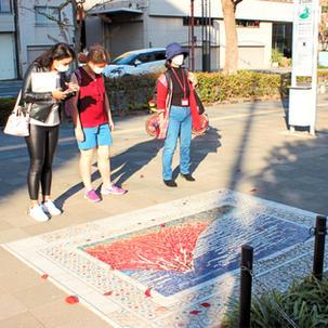 Hokusai park Red Fuji
