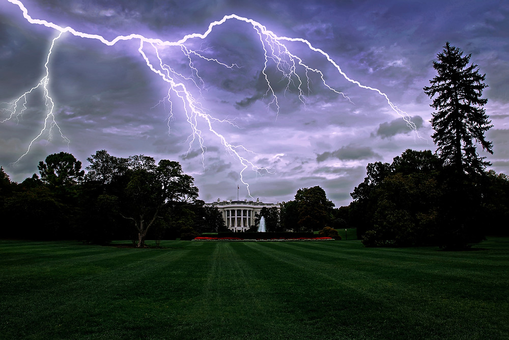 Washington DC White House Lightning Storm