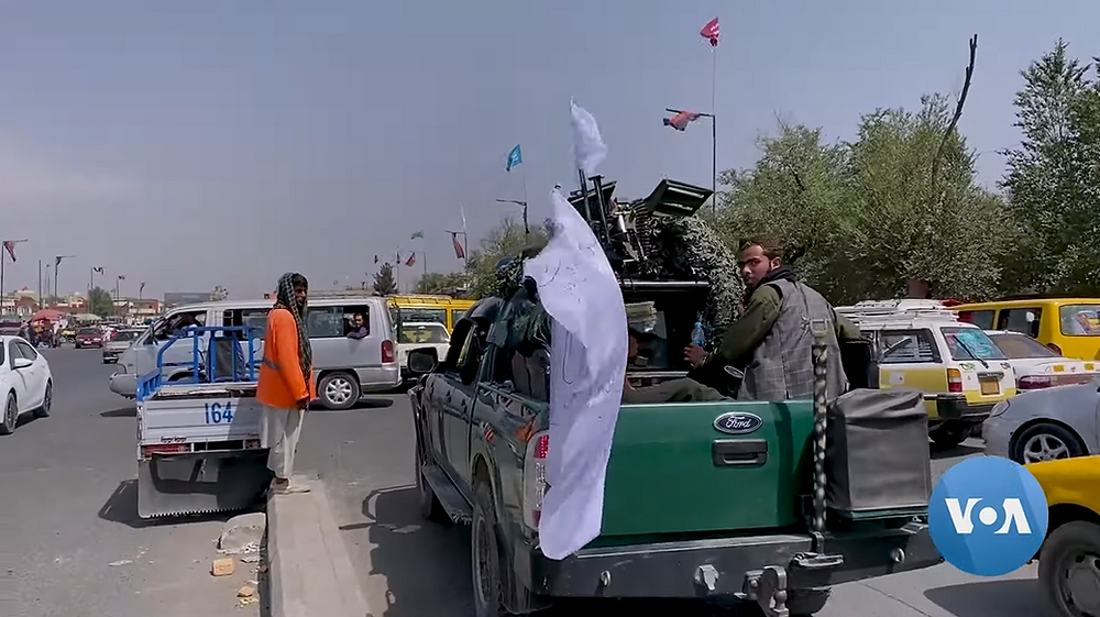 Taliban Fighters on a Truck in Kabul, August 17 2021