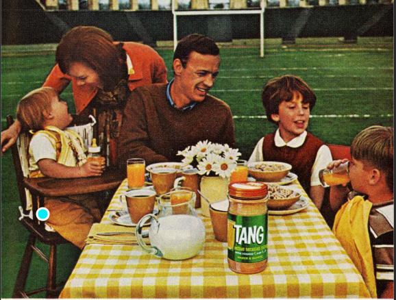 1960 american family drinking tang