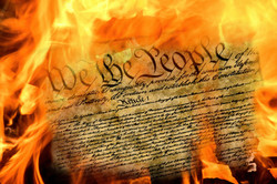 close up of United States constitution d