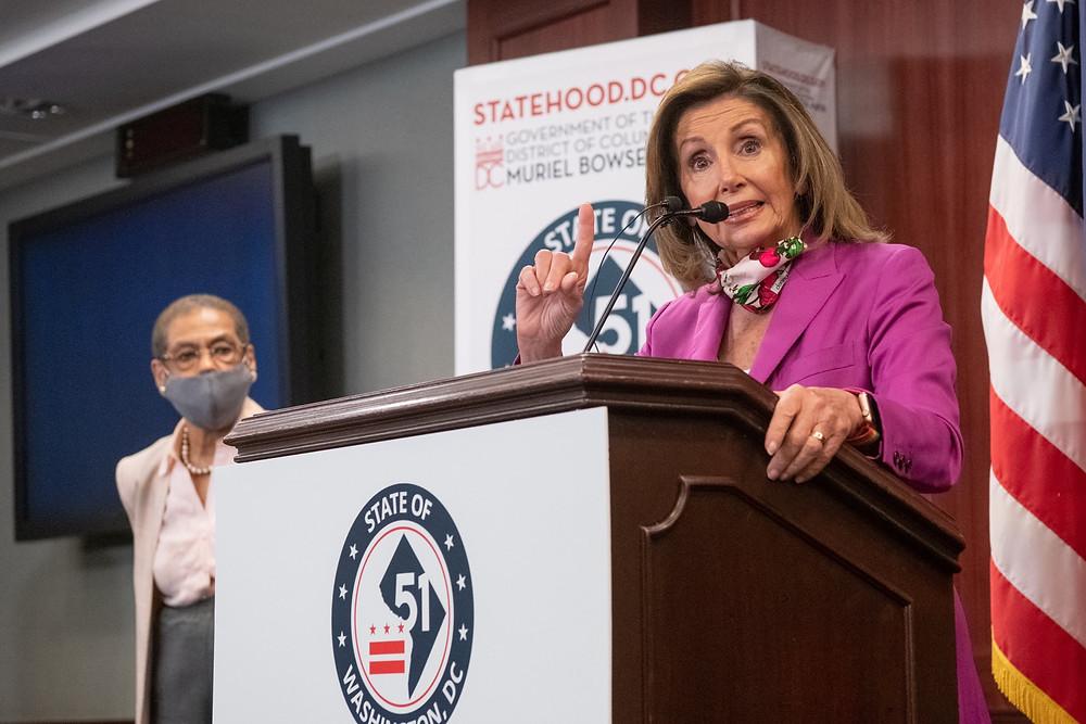 Democrat Nancy Pelosi Speaking