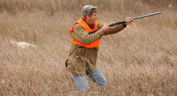 John Kerry shoots gun via politico