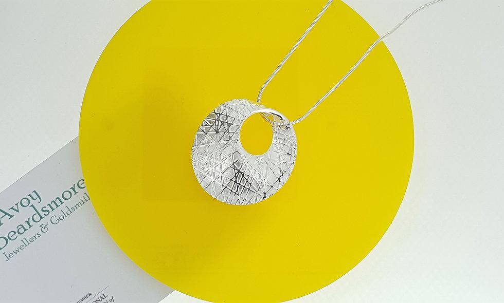 Silver Sandbrushed Pendant