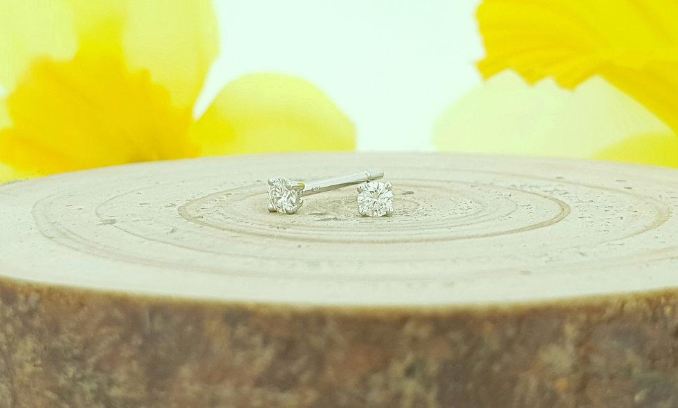 18ct White Gold 0.15ct Diamond Stud Earrings