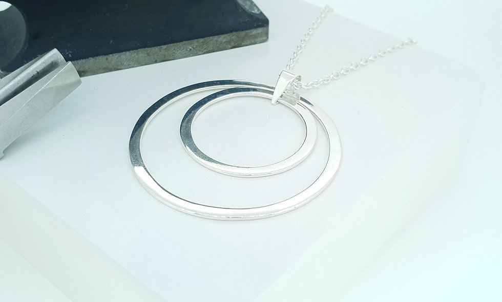 Silver Double Circle Pendant