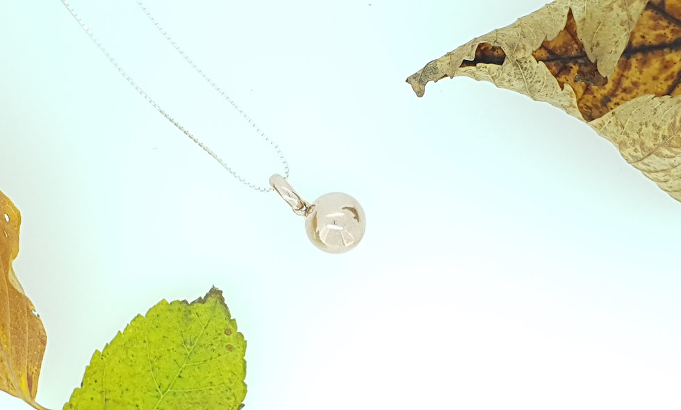 Silver and Rose Gold Vermeil Sphere Pendant