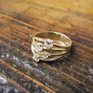 Diamond Four Stone Strand Ring