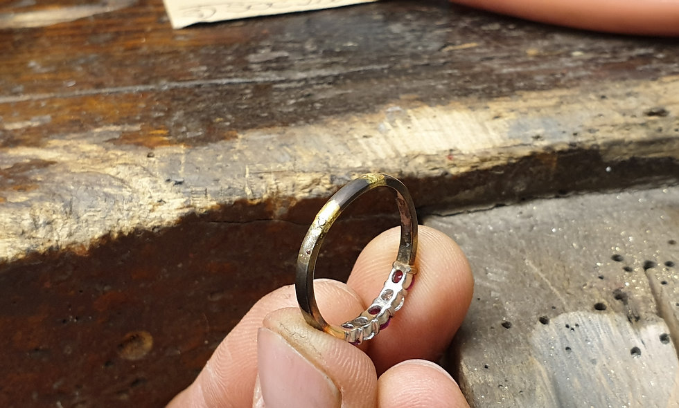 Resize a Platinum Ring from 'M½' to...
