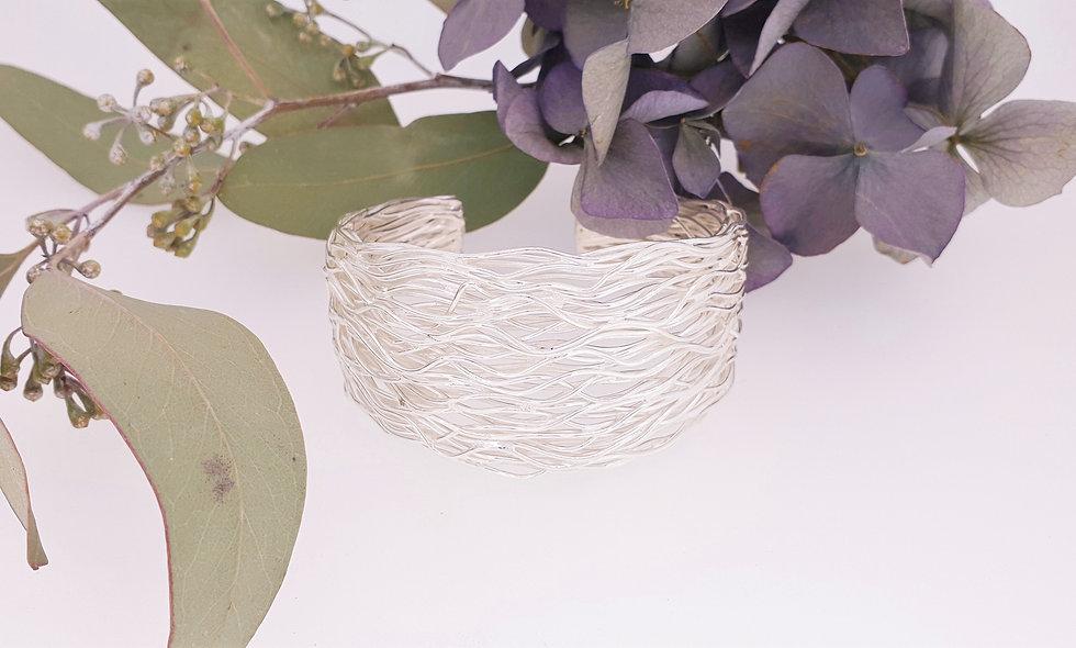 Silver Wire Cuff Bangle