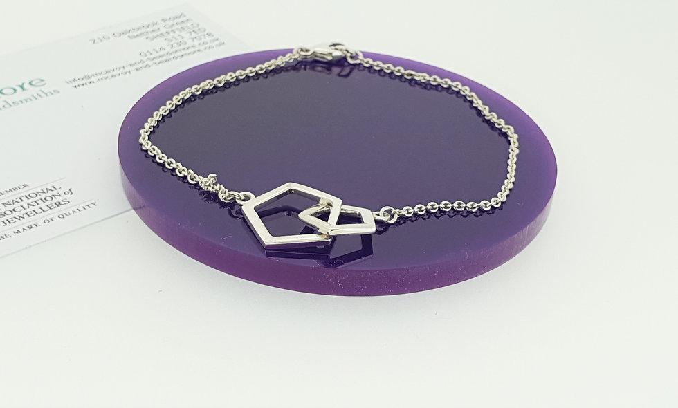 Silver Hex Bracelet
