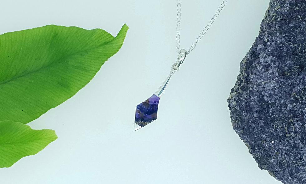 Silver and Blue John Kite Pendant