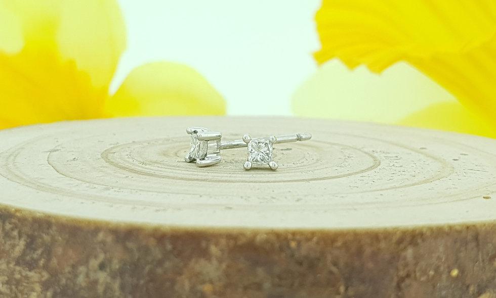 9ct White Gold 0.20ct Diamond Stud Earrings