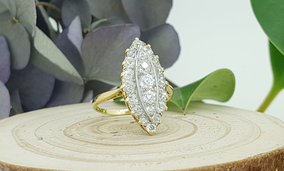 18ct Gold 1.2ct Diamond Cluster Ring