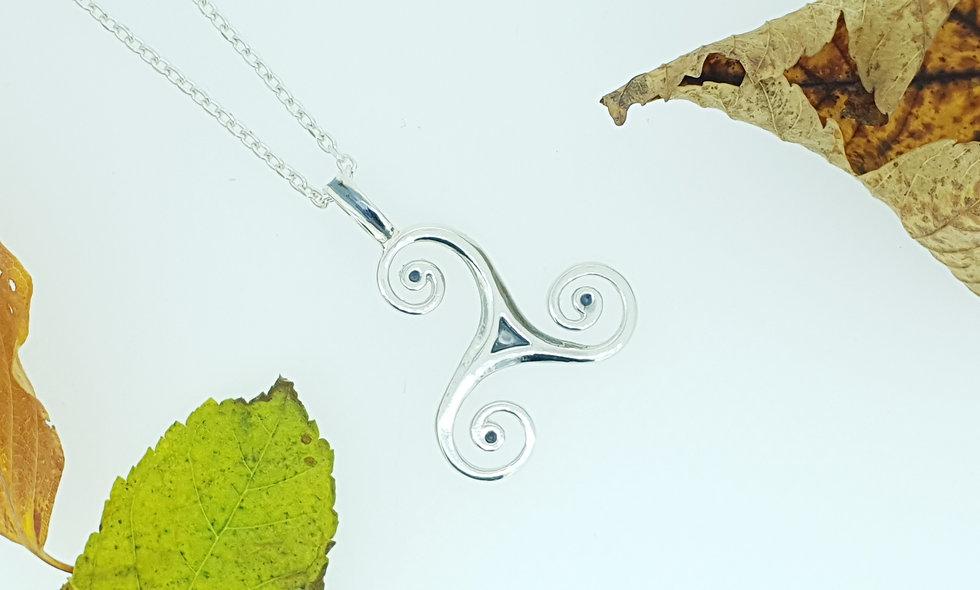 Silver Triskele Pendant
