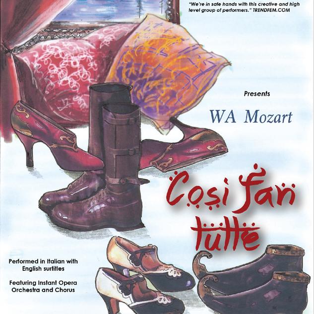 Instant Opera poster for Cosi fan tutte
