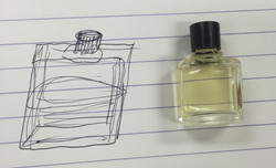 Perfume bottle sketch