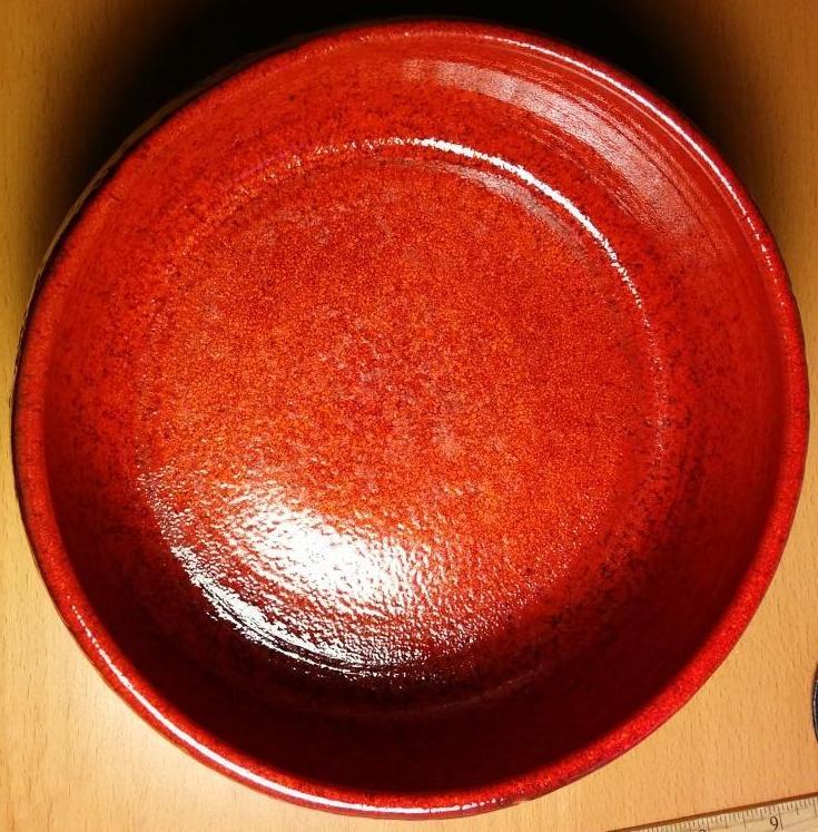 saladier rond rouge noël - L