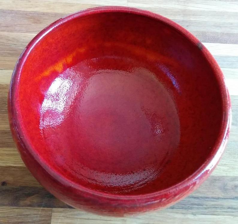 Saladier texturé rouge noël - MM