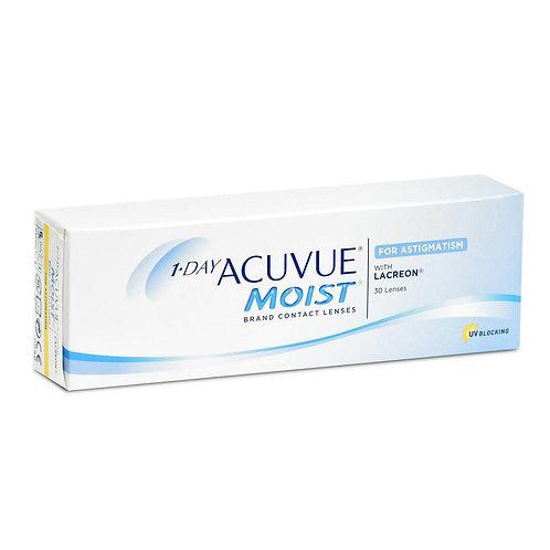 Acuvue 1-Day Moist for Astigmatism - Box of 30 Lenses