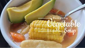 Veggie Dumpling Soup