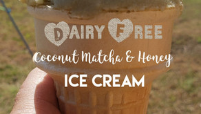 Dairy Free Coconut Matcha (Green Tea) & Honey Ice Cream