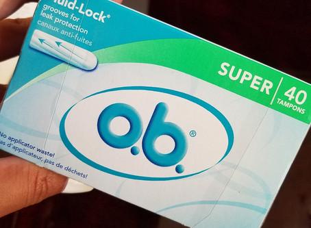 o.b. no applicator tampons