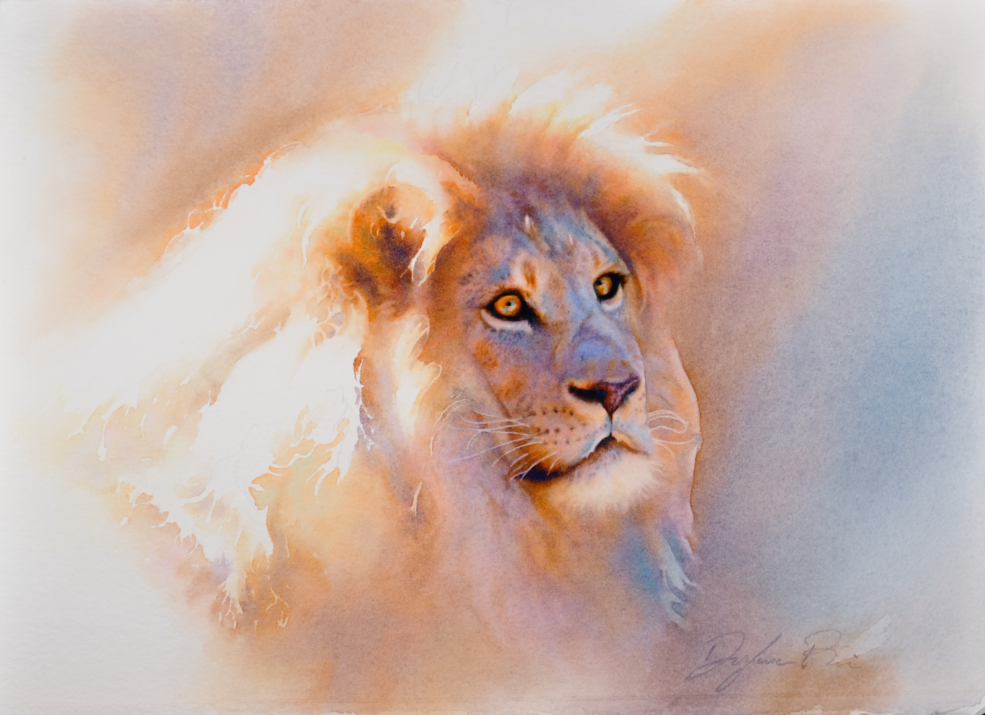 Crowned in Light (study)