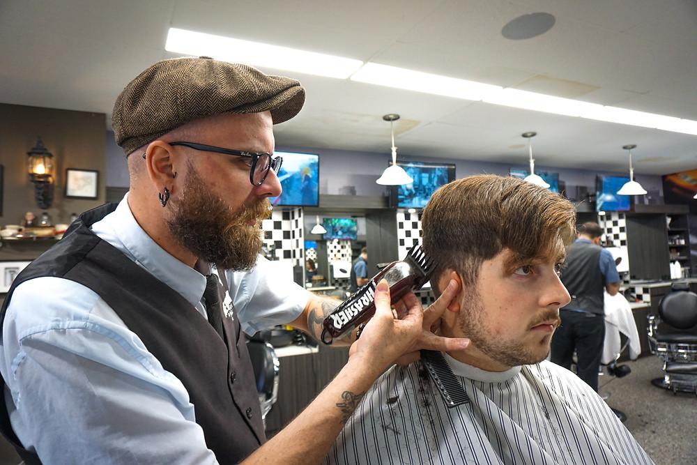 Haircut at New York Barbers in Berwick