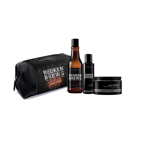 REDKEN BREWS Grooming Kit with Travel Bag