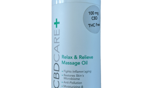 CBDCARE+ Relax & Relieve Massage Oil 500mg 8oz