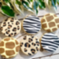 animal print iced biscuits