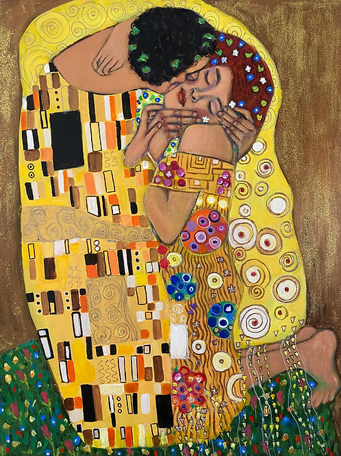 """The Kiss, Klimt Study"""