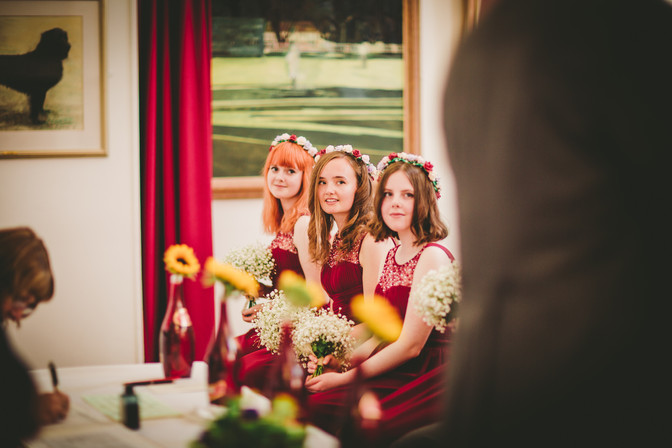 bridemaid at Royal Welsh college