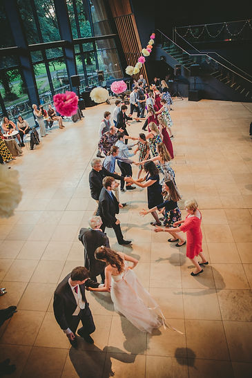 Dances at bride and groom at Dewsall court Wedding