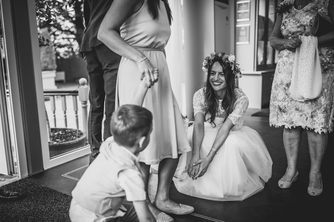 children at a Cardiff wedding