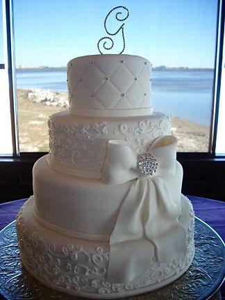 elegant wedding cakes in cardiff