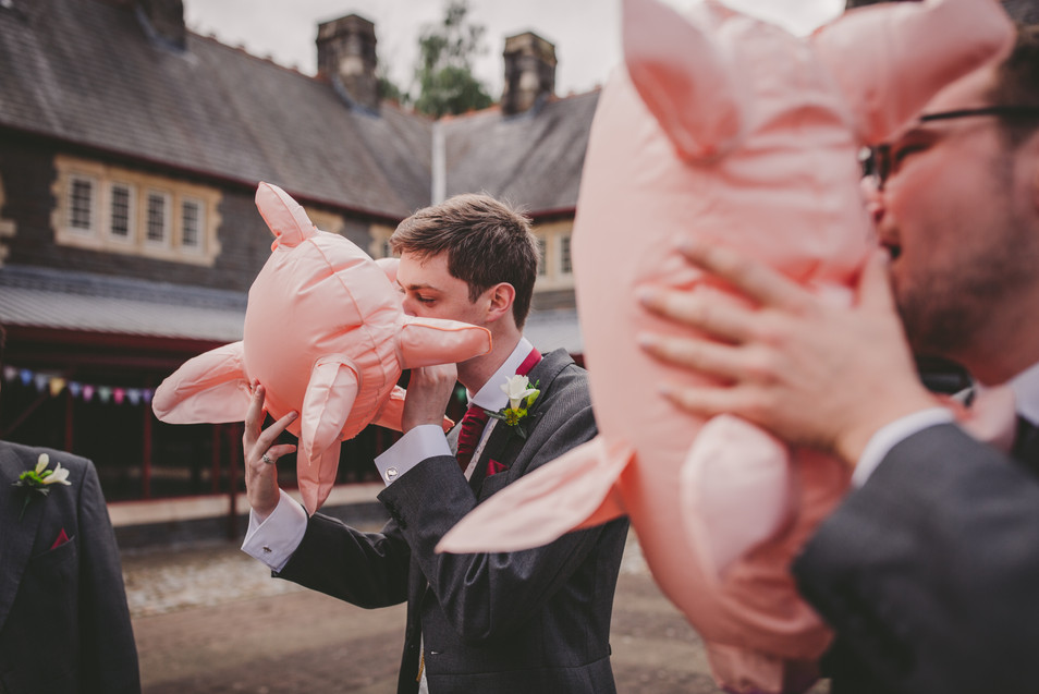 groom at Royal Welsh college