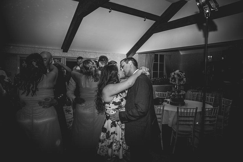 bride and groom kissing at Corran Resort Wedding