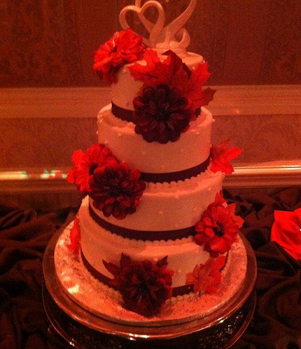 considering various wedding cakes