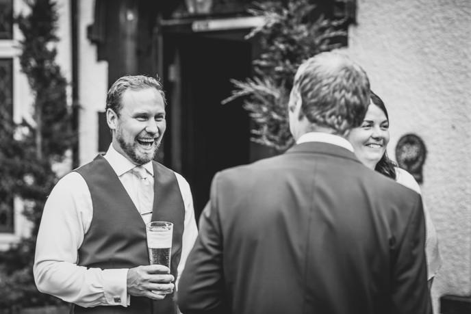 groom and ushers at Llechwen Hall