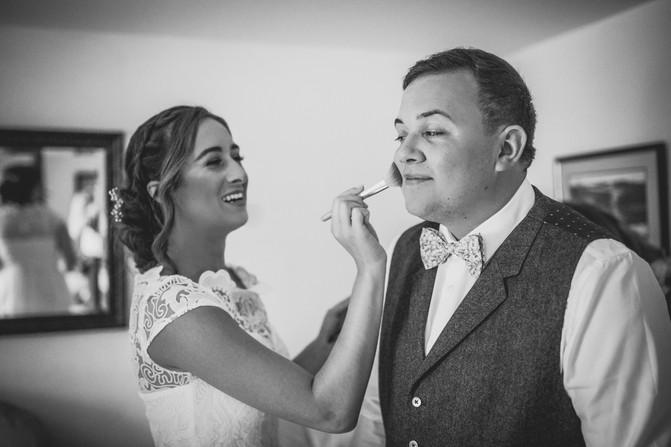 bride and groom at Rosedew