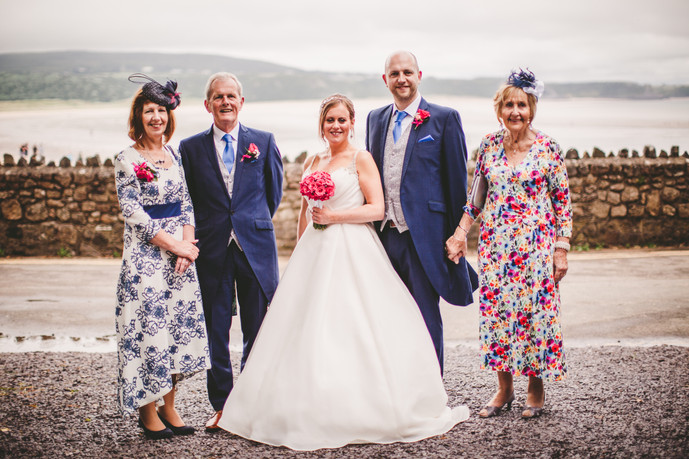 Bride and groom at Oxwich Bay Marquee Wales