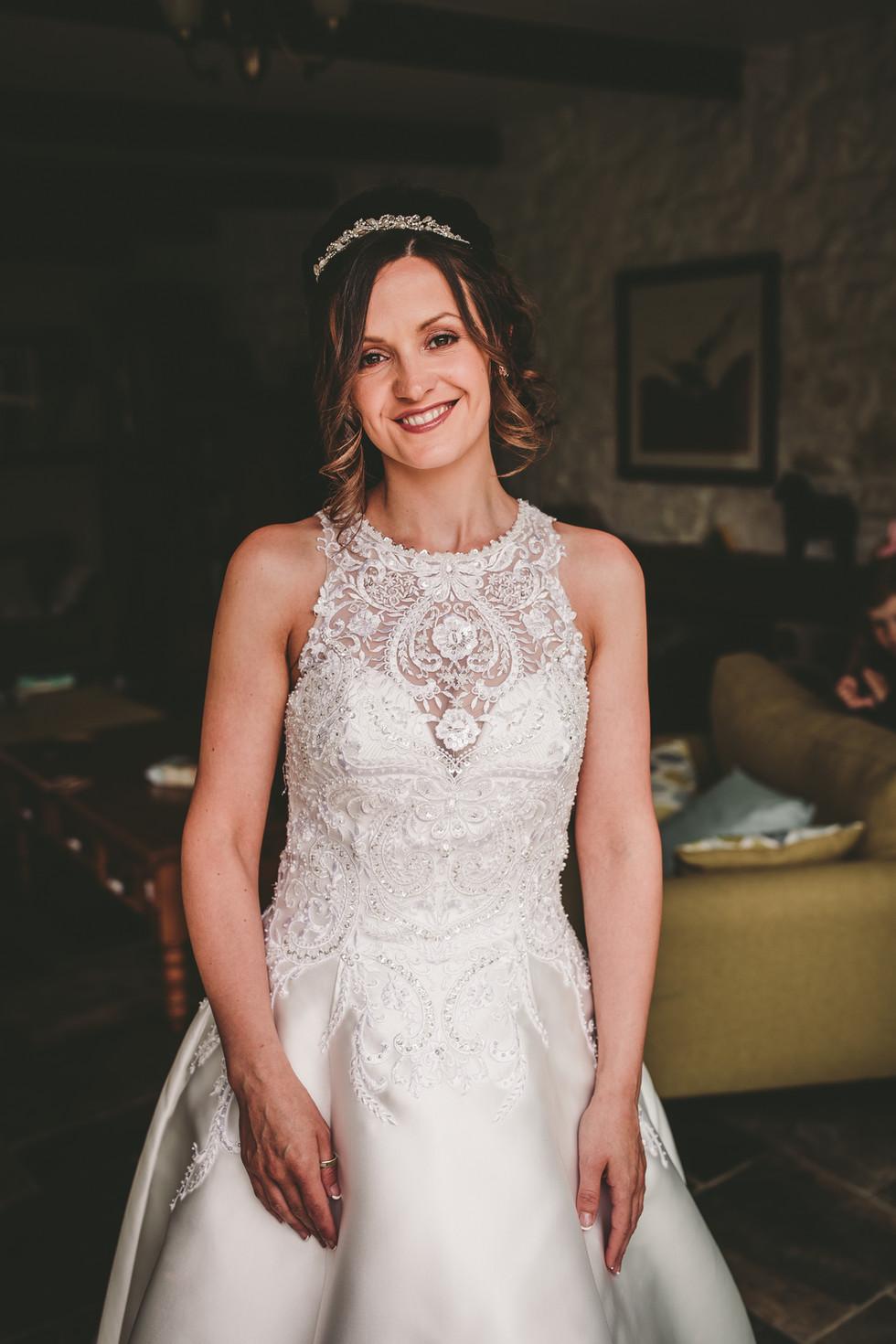 bride at Crug Glas South Wales