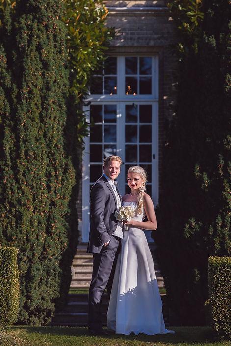 Bride and groom at Manor Parc Hotel Wedding