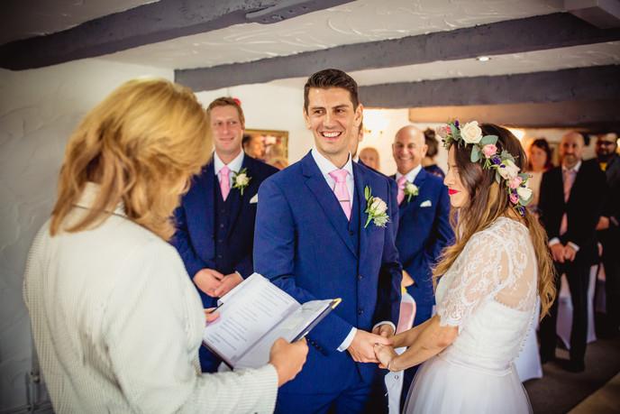 couple at Llechwen Hall Wedding