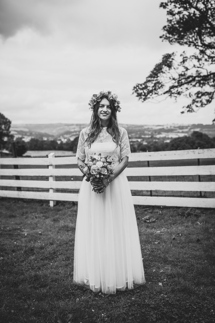 bride at Llechwen Hall Wedding