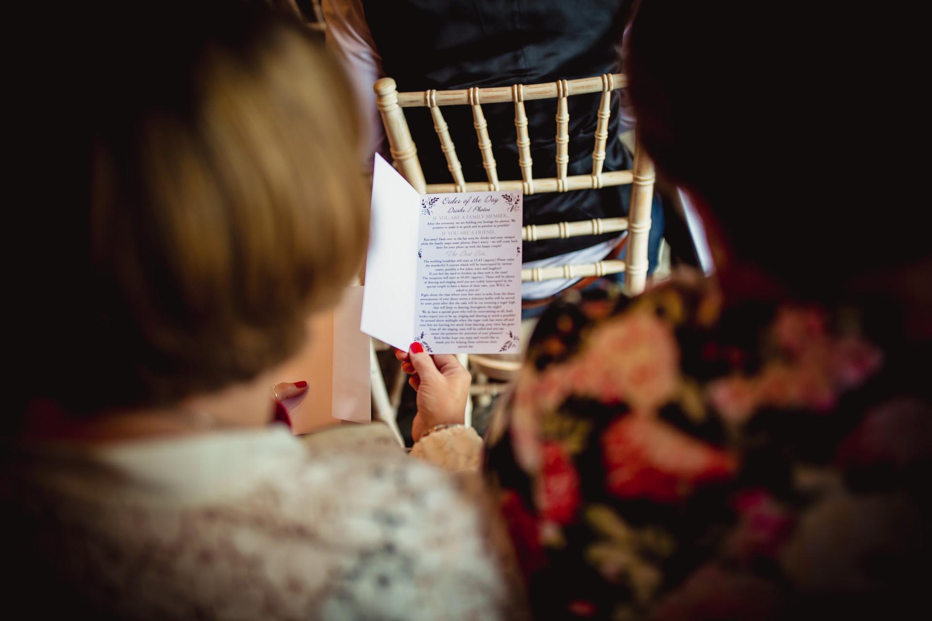 reading at Coed Y Mwstwr wedding