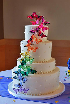Butterfly Wedding Cake in cardiff